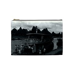 Vintage China Guilin River Boat 1970 Medium Makeup Purse by Vintagephotos