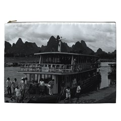 Vintage China Guilin River Boat 1970 Cosmetic Bag (xxl) by Vintagephotos