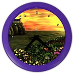 Eddie s Sunset Color Wall Clock