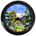 Hidden Barn by Ave Hurley - Wall Clock (Black)