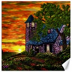 Jessica s Cottage by Ave Hurley - Canvas 12  x 12