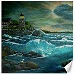 Hobson s Lighthouse-1 by Ave Hurley - Canvas 12  x 12