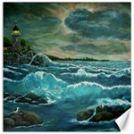 Hobson s Lighthouse-2 by Ave Hurley - Canvas 12  x 12
