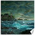 Sailing At Hobson s Lighthouse-3 By Ave Hurley Canvas 12  x 12