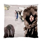 Eskimo Scene Cushion Case (One Side)