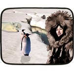 Eskimo Scene Mini Fleece Blanket(Two Sides)