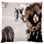 Eskimo Scene Large Cushion Case (Two Sides)