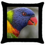 Rainbow Lorikeet Throw Pillow Case (Black)