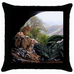 Dragon s Caves Throw Pillow Case (Black)