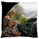 Dragon s Caves Large Cushion Case (One Side)