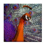 Peacock Psychedelic Orange & Purple Face Towel