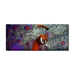 Peacock Psychedelic Orange & Purple Hand Towel