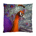 Peacock Psychedelic Orange & Purple Cushion Case (One Side)
