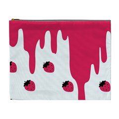 Melting Strawberry Extra Large Makeup Purse by strawberrymilk