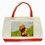 Golden Retriever dog Classic Tote Bag (Red)