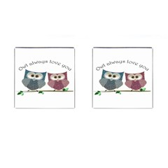Owl Always Love You, Cute Owls Square Cuff Links
