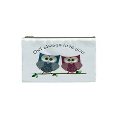 Owl Always Love You, Cute Owls Small Makeup Purse by DigitalArtDesgins