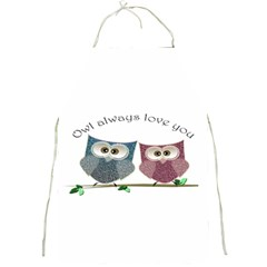 Owl Always Love You, Cute Owls Apron