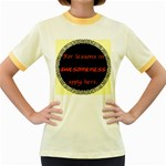 Lessons in Awesomeness Women s Fitted Ringer T-Shirt