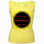 Lessons in Awesomeness Women s Yellow Tank Top