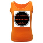 Lessons in Awesomeness Women s Dark Tank Top