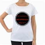 Lessons in Awesomeness Maternity White T-Shirt