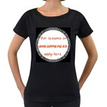 Lessons in Awesomeness Maternity Black T-Shirt
