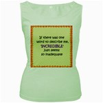 Incredible is Inadequate Women s Green Tank Top