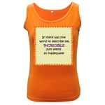 Incredible is Inadequate Women s Dark Tank Top
