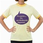 I m Not Fat Women s Fitted Ringer T-Shirt