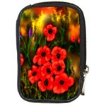 Poppies 3 by  Ave Hurley -  Compact Camera Leather Case