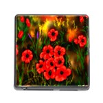 Poppies 3 by  Ave Hurley -  Memory Card Reader with Storage (Square)