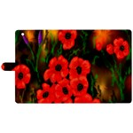 Poppies 3 by  Ave Hurley -  Apple iPad 3/4 Woven Pattern Leather Folio Case