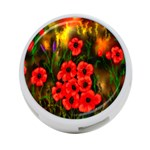 Poppies 3 by  Ave Hurley -  4-Port USB Hub (One Side)