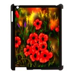 Poppies 3 by  Ave Hurley -  Apple iPad 3/4 Case (Black)