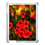 Poppies 3 by  Ave Hurley -  Apple iPad 3/4 Case (White)