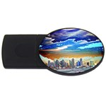 San Diego Skyline USB Flash Drive Oval (2 GB)