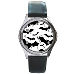 Deathrock Bats Round Metal Watch