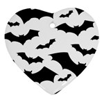 Deathrock Bats Ornament (Heart)