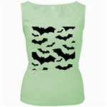 Deathrock Bats Women s Green Tank Top