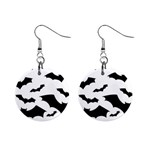 Deathrock Bats 1  Button Earrings
