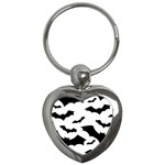 Deathrock Bats Key Chain (Heart)