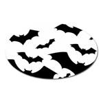Deathrock Bats Magnet (Oval)