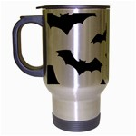 Deathrock Bats Travel Mug (Silver Gray)