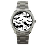 Deathrock Bats Sport Metal Watch