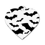 Deathrock Bats Dog Tag Heart (One Side)