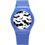 Deathrock Bats Round Plastic Sport Watch Small