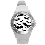 Deathrock Bats Round Plastic Sport Watch Large