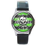 Deathrock Skull Round Metal Watch