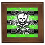 Deathrock Skull Framed Tile